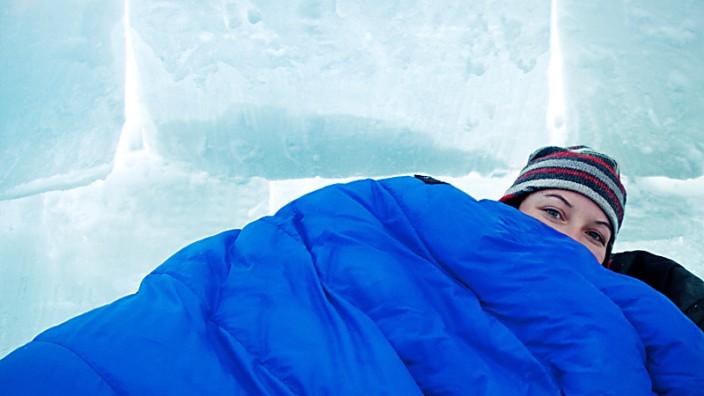Schlafen im Schnee