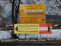 Oberaudorf-Hinweisschild für Mautflucht,Oberaudorf - Hinweisschild für Mautflucht