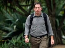 Glenn Greenwald, the blogger and journalist who broke the U.S. NSA surveillance scandal, arrives to an exclusive interview with Reuters in Rio de Janeiro