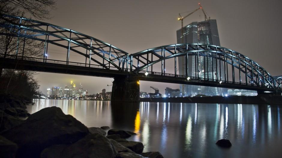 Naubau der EZB in Frankfurt