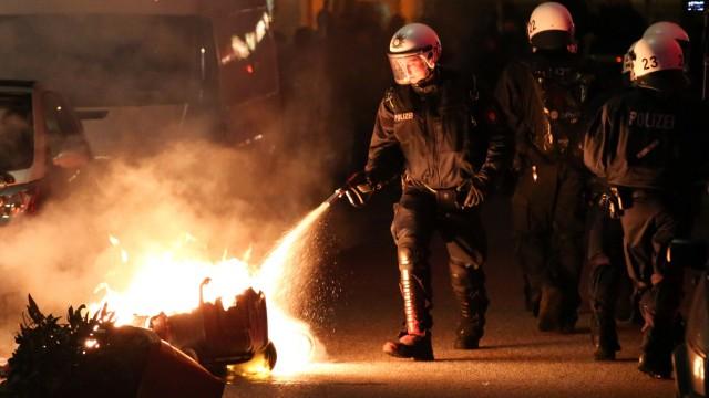 Ausschreitungen nach Demonstration im Schanzenviertel