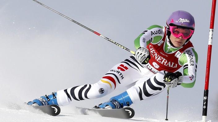 Maria Höfl-Riesch im Riesenslalom von Val d'Isère.