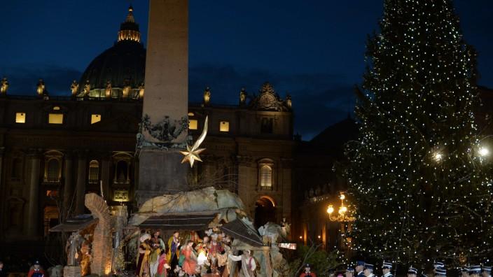 Vor Christmette in Rom