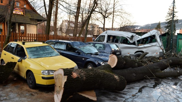 Damage after bad weather in Poland
