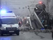 Einsatzkräfte in Wolgograd
