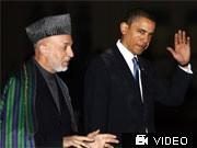 Karsai, Obama, AFP