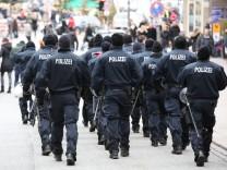 Innenstadt von Hamburg zum Gefahrengebiet