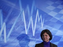 Aigner Bavarian Economy minister gives statement about Bavarian energy strategy in Munich