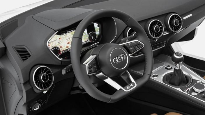 Audi zeigt neues TT-Interieur auf der CES.