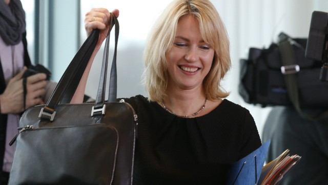 German Family Minister Schwesig arrives to a cabinet meeting at the Chancellery in Berlin