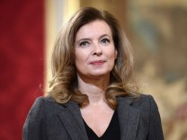 File photo of French first lady Valerie Trierweiler at ceremony for recipents of the Family Medal award in Paris