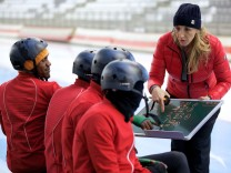 "Anni Friesinger in ""Real Cool Runnings"""