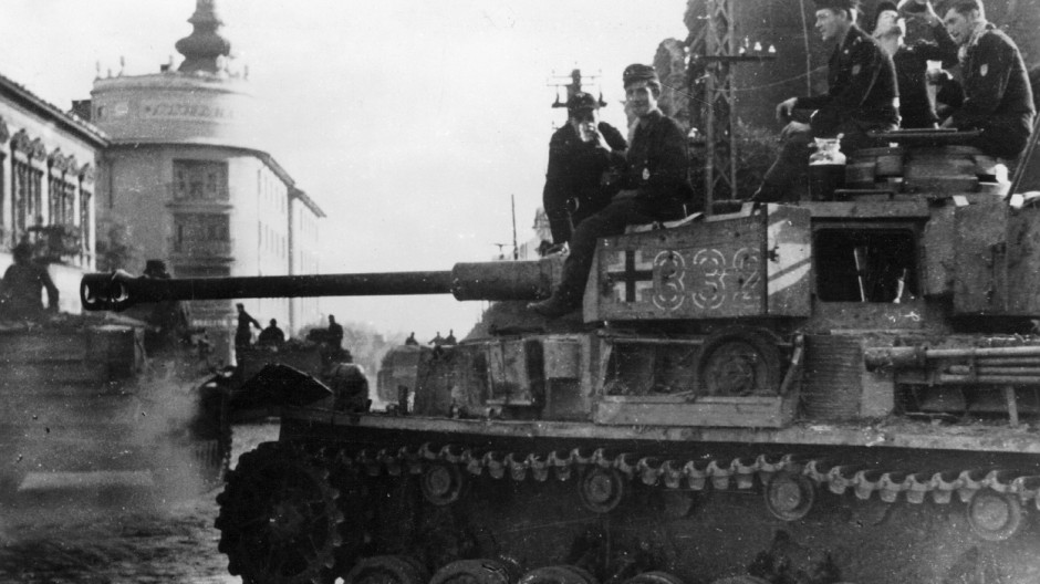 Deutscher Panzer IV in Debrecen in Ungarn, 1944