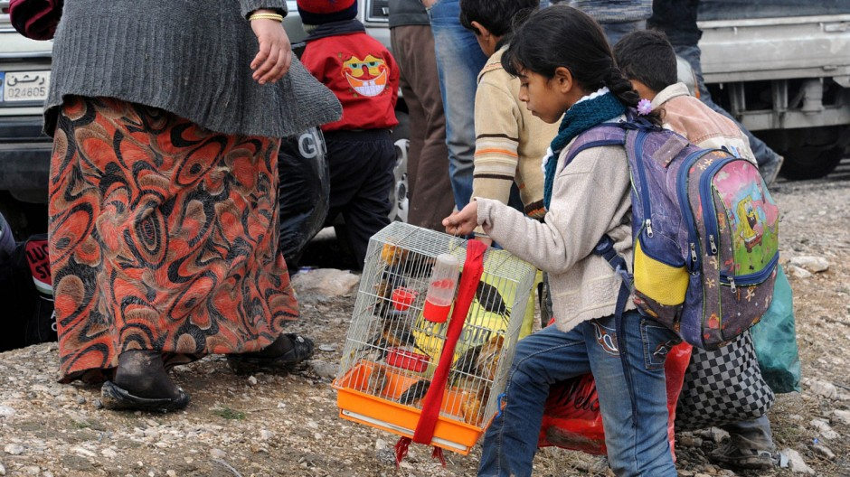 Evacuation operation of the surviving residents of Adra, Syria