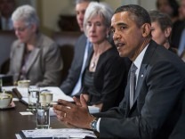 President Obama Meets With His Cabinet in Washington DC