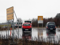 Kreisverkehr an der Maxhof-Kaserne