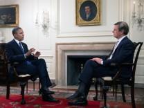 US-Präsident Obama im ZDF-Interview mit Claus Kleber