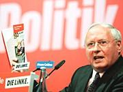 Oskar Lafontaine auf dem Parteitag der Linke; Getty
