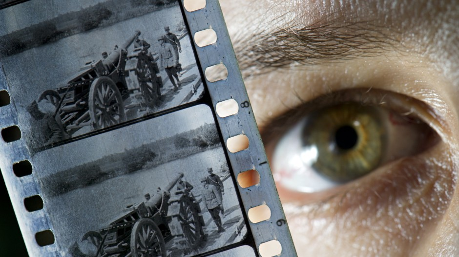 Filmmaterial aus dem 1. Weltkrieg