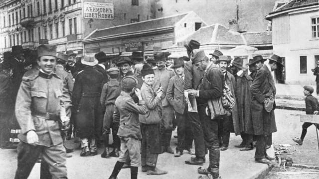 Verkündung der Mobilmachung in Belgrad, 1914