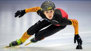 15 Januar 2014 Dresden Training Deutsche Nationalmannschaft zur Short Track EM Anna Seidel phot