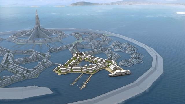 Mikrogesellschaften auf schwimmenden Inseln