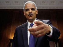 Attorney General Holder Testifies On Oversight In The Justice Department At Senate Hearing