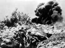 Österreichische Soldaten an der Front in Italien, 1918 Piave Erster Weltkrieg