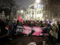 Protest gegen Wiener Akademikerball der FPÖ