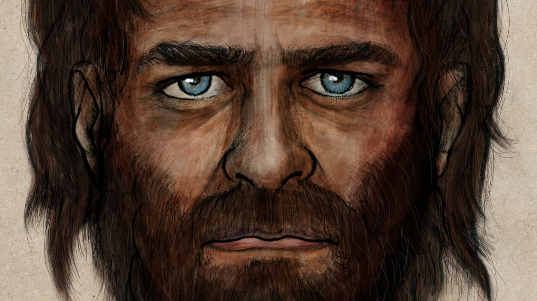 Blaue Augen und dunkle Haut bei Europas Steinzeitmenschen