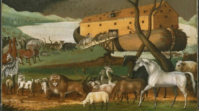 Noah's Ark, oil on canvas painting by Edward Hicks, 1846 Philadelphia Museum of Art