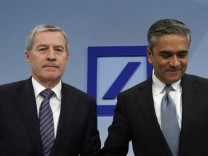 File photo of Co-Chairmen of Deutsche Bank Jain and Fitschen
