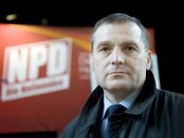 Udo Pastoers  Wahlkampfauftakt der NPD und DVU, Berlin