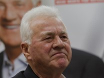 Austrian-Canadian billionaire Stronach attends a news conference in Vienna
