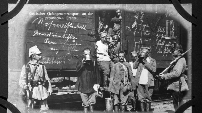 Europeana 1914-1918 Postkarte russische Kriegsgefangene