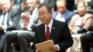 UN-Generalsekretär Ban Ki Moon in Berlin