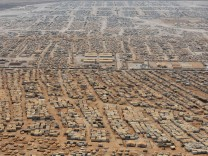 File photo of an aerial view of the Zaatari refugee camp, near the Jordanian city of Mafraq