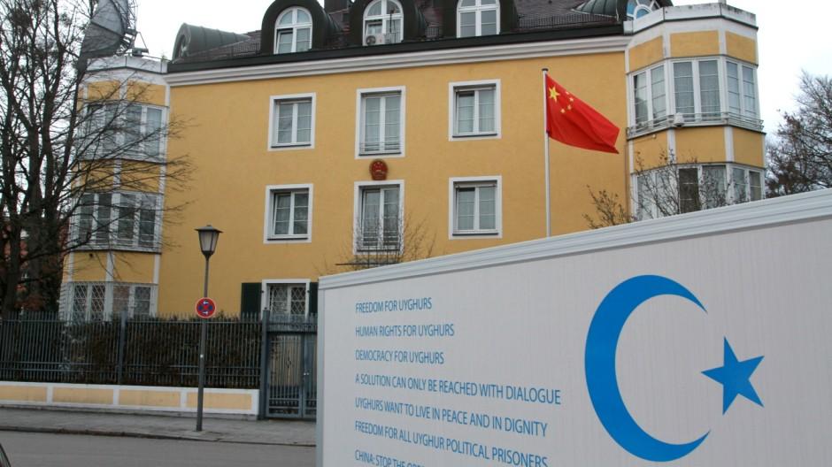 Uiguren Uiguren-Protest in München