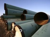 Öl-Pipeline in North Dakota, USA