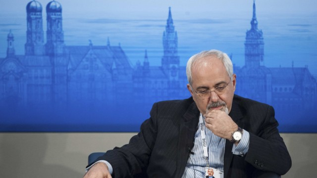 Iran's Foreign Minister Mohammad Javad Zarif attends the annual Munich Security Conference