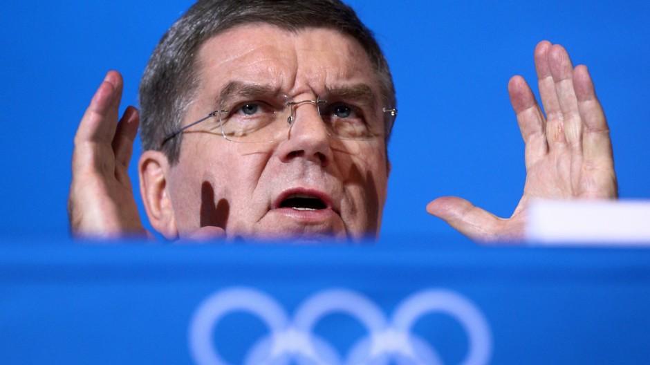 Sotschi 2014 - Pk mit IOC-Präsident Thomas Bach