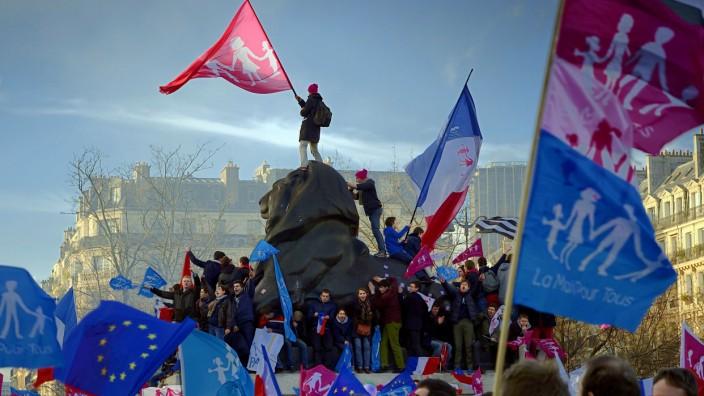 Frankreich Familienpolitik Demonstration