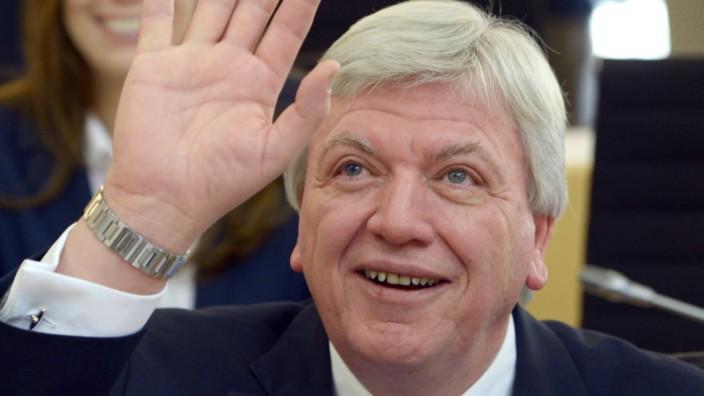 Minister President Volker Bouffier Attends Parliment Meeting Of Hessen