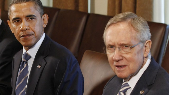 US President Obama meets with Congressional leaders at the White House in Washington