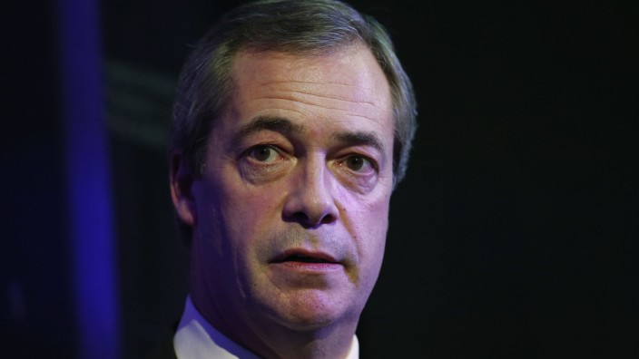 Britain's UK Independence Party leader Farage speaks during an event entitled 'These European Elections Matter' at the London School of Economics in London