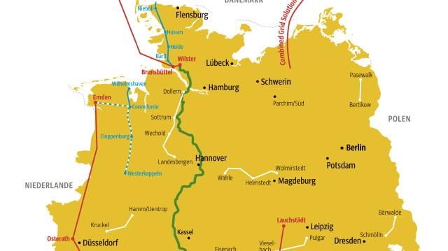 Stromkorridore in Deutschland