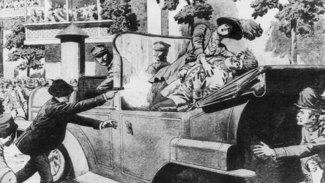 Attentat auf den österreichischen Thronfolger Franz Ferdinand, 1914