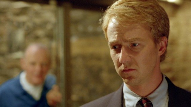 "Anthony Hopkins und Edward Norton in ""Roter Drache"", 2002"