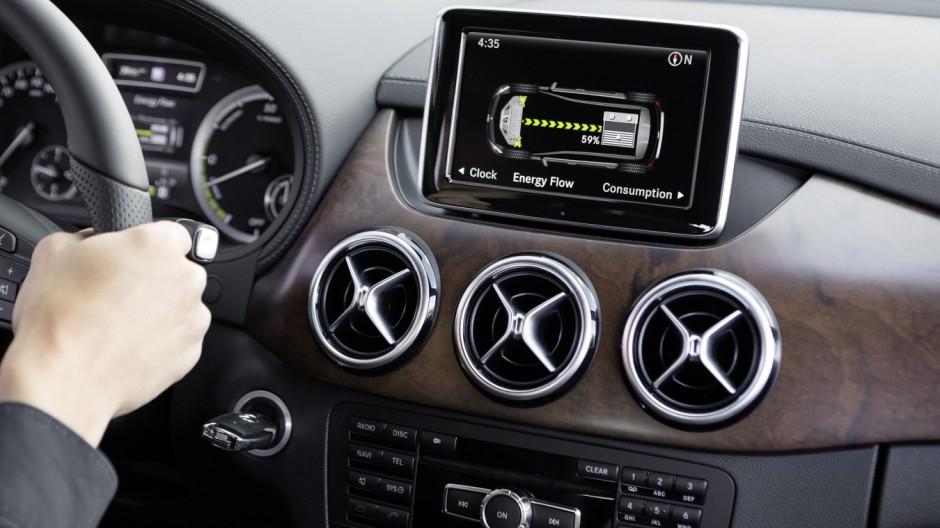 Die Mercedes B-Klasse Electric Drive im Innenraum.