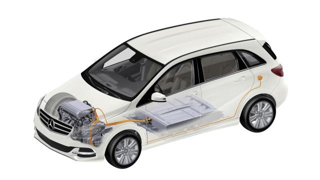 Die Technik der Mercedes B-Klasse Electric Drive.